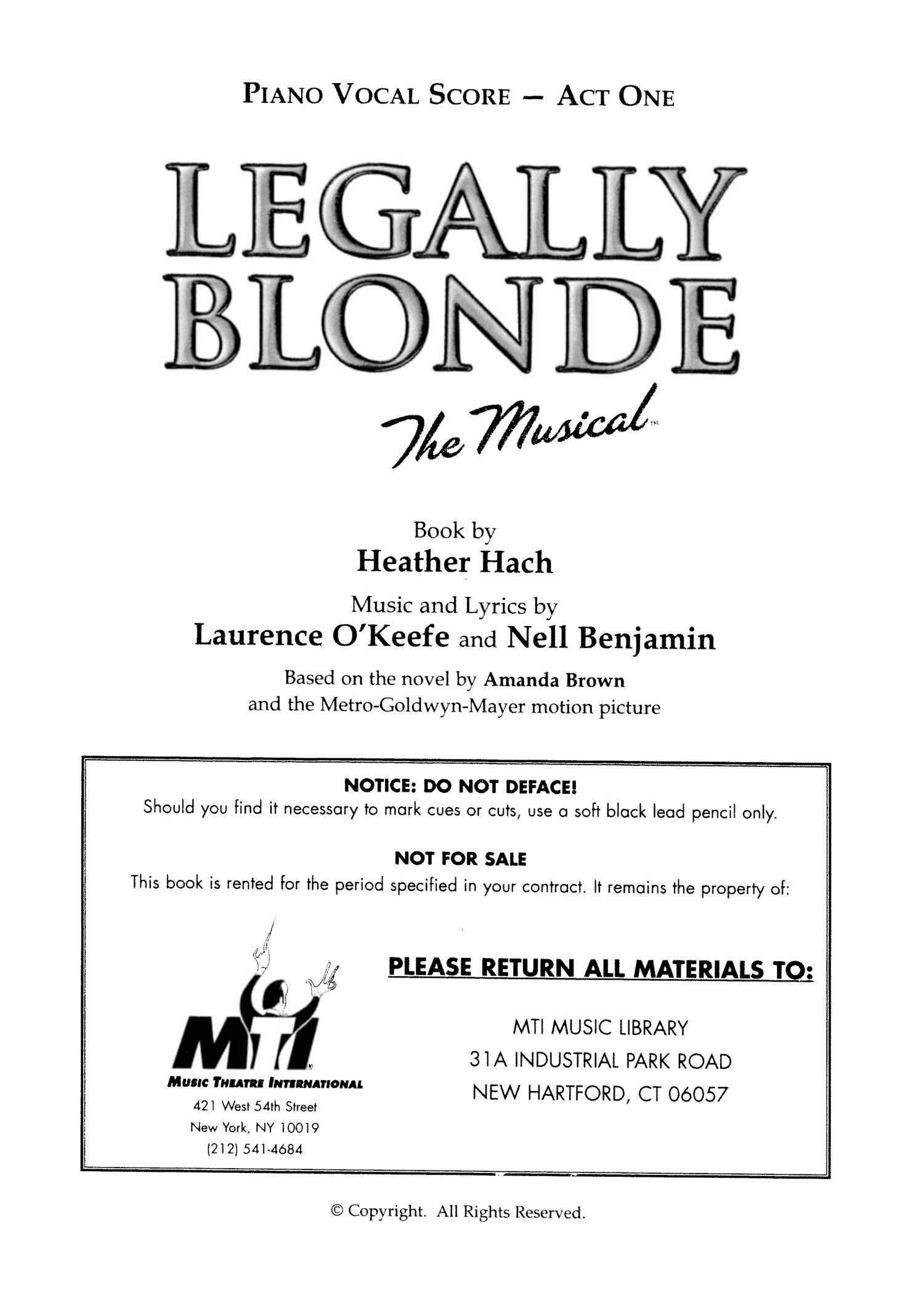 Legally Blonde - Score pdf | DocDroid
