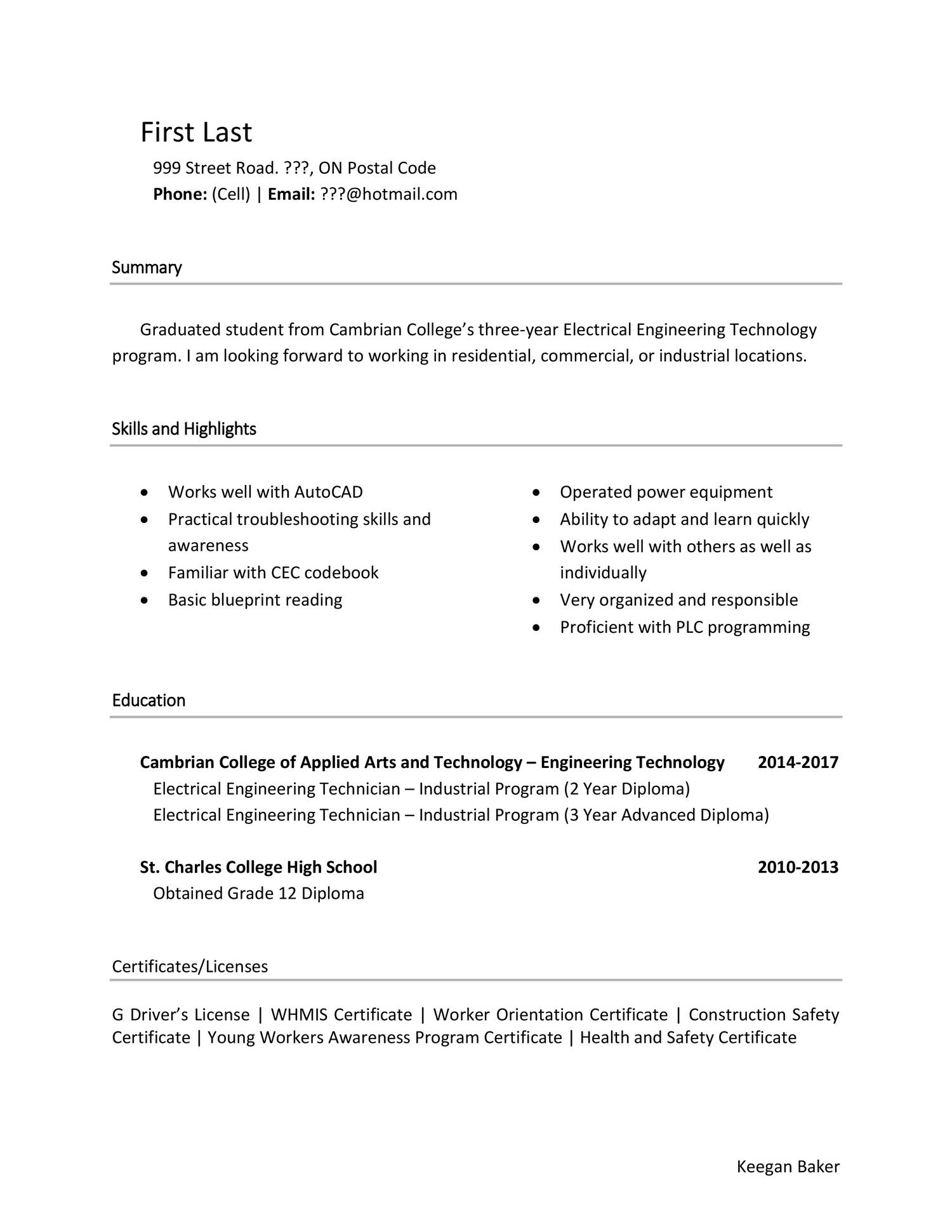 resume cover letter no specific resume cover letter
