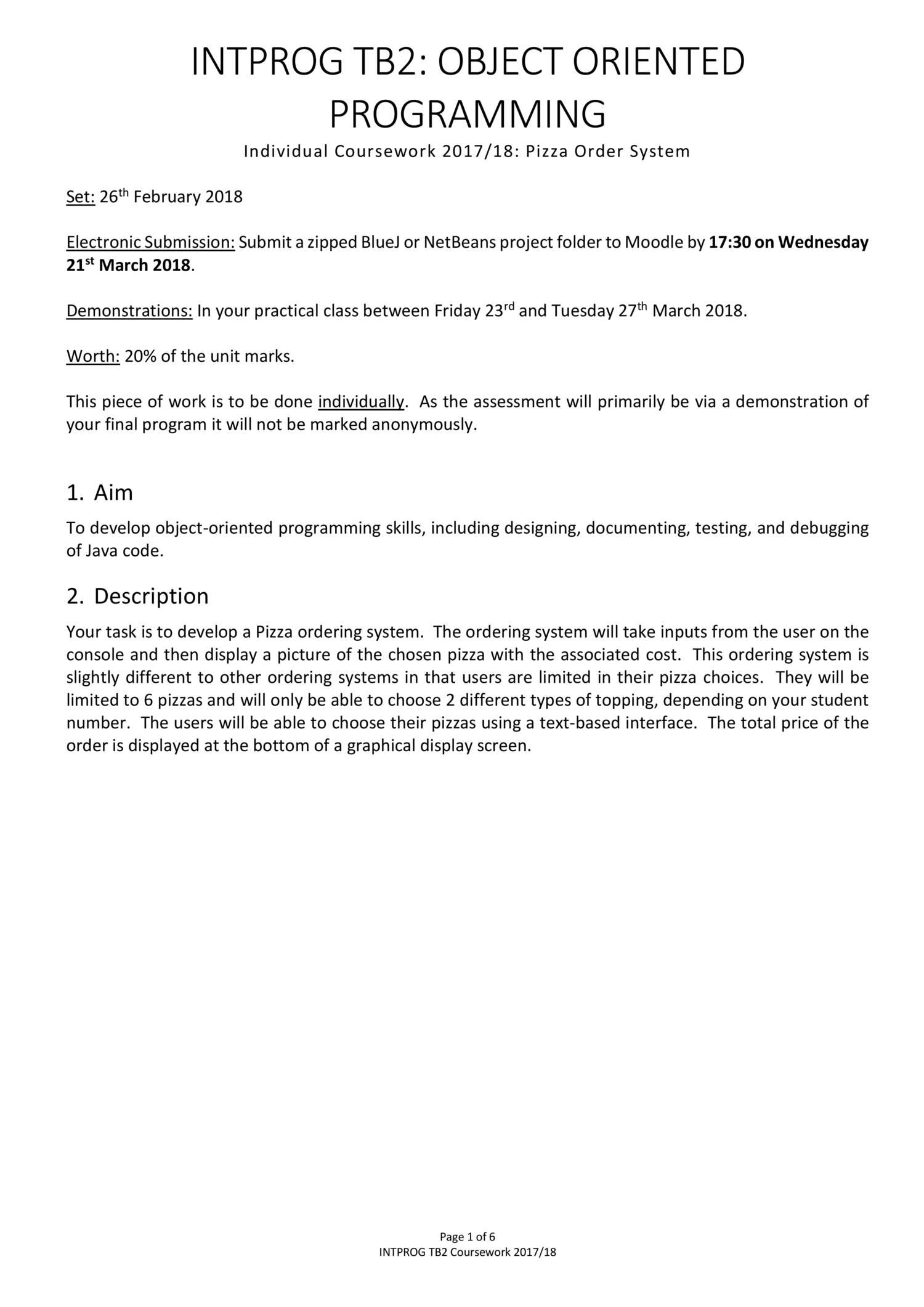 INTPROG TB2 Java Coursework pdf | DocDroid