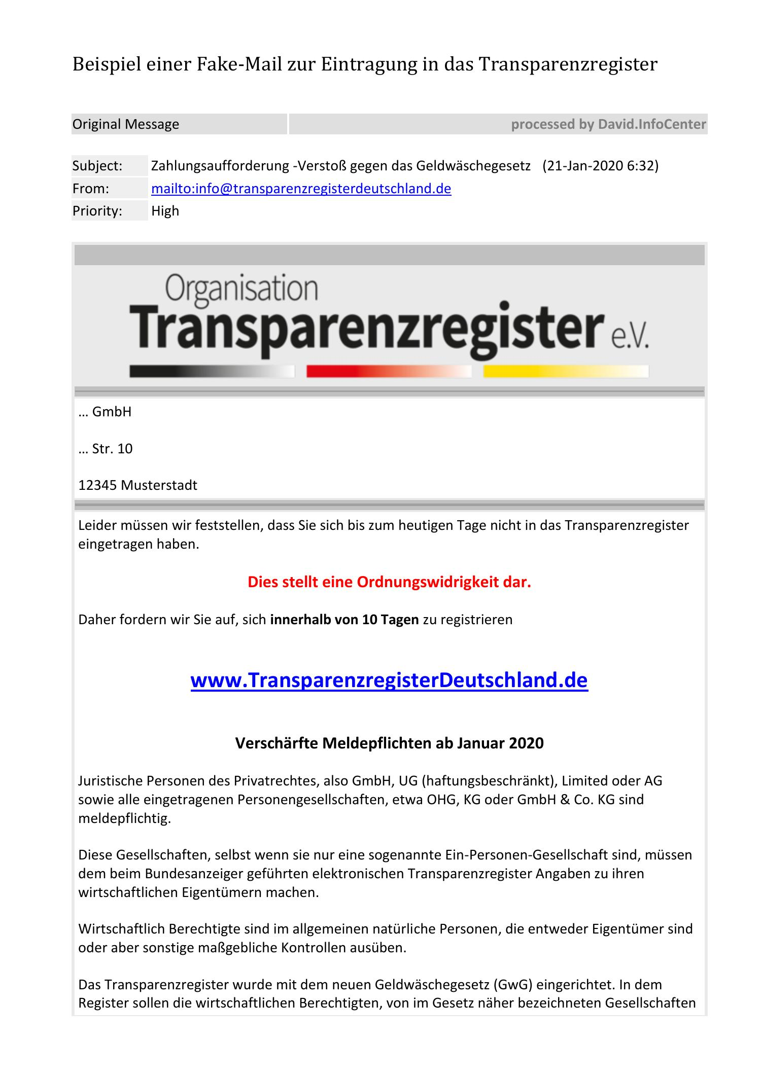 Dkms Fake Mail