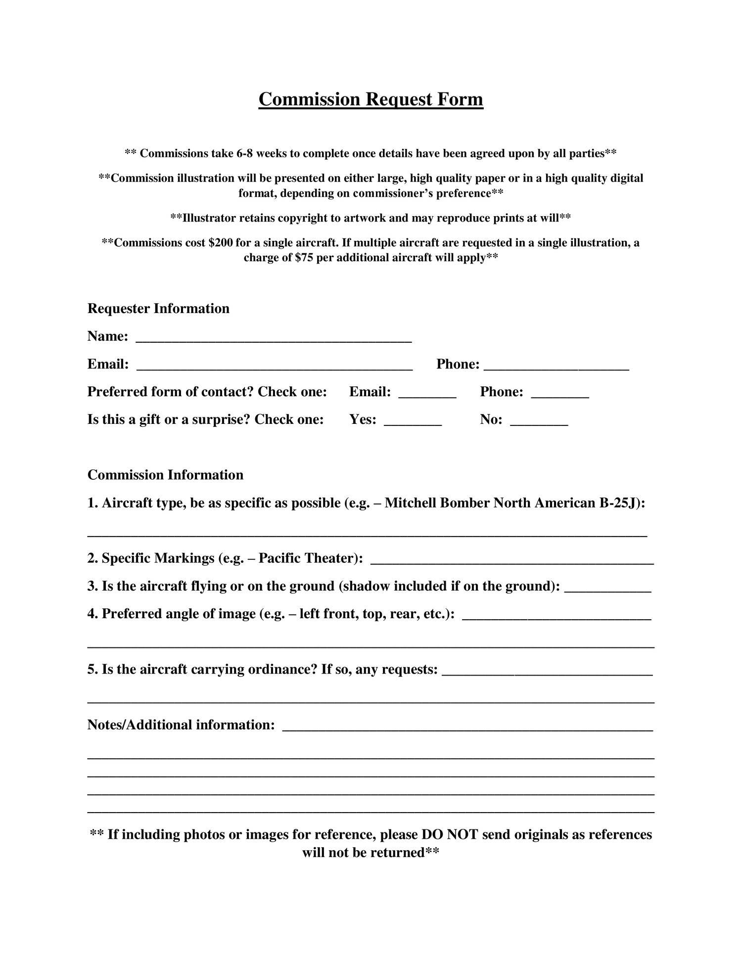 commission request form just plane docdroid. Black Bedroom Furniture Sets. Home Design Ideas