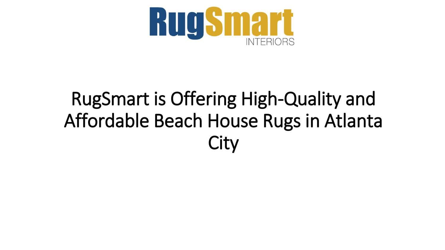RugSmart is Offering High-Quality and Affordable Beach ...