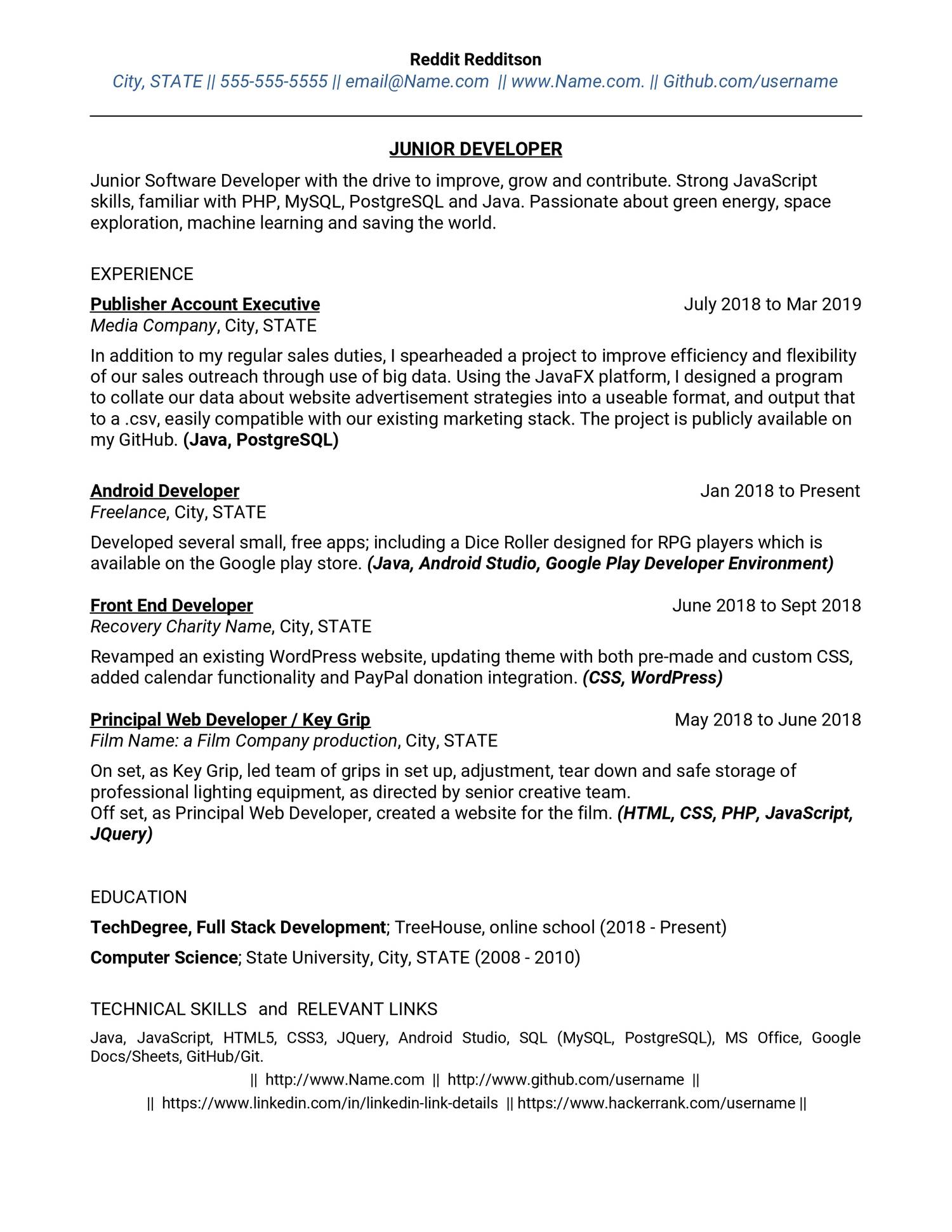 Anonymized Dev Resume pdf | DocDroid