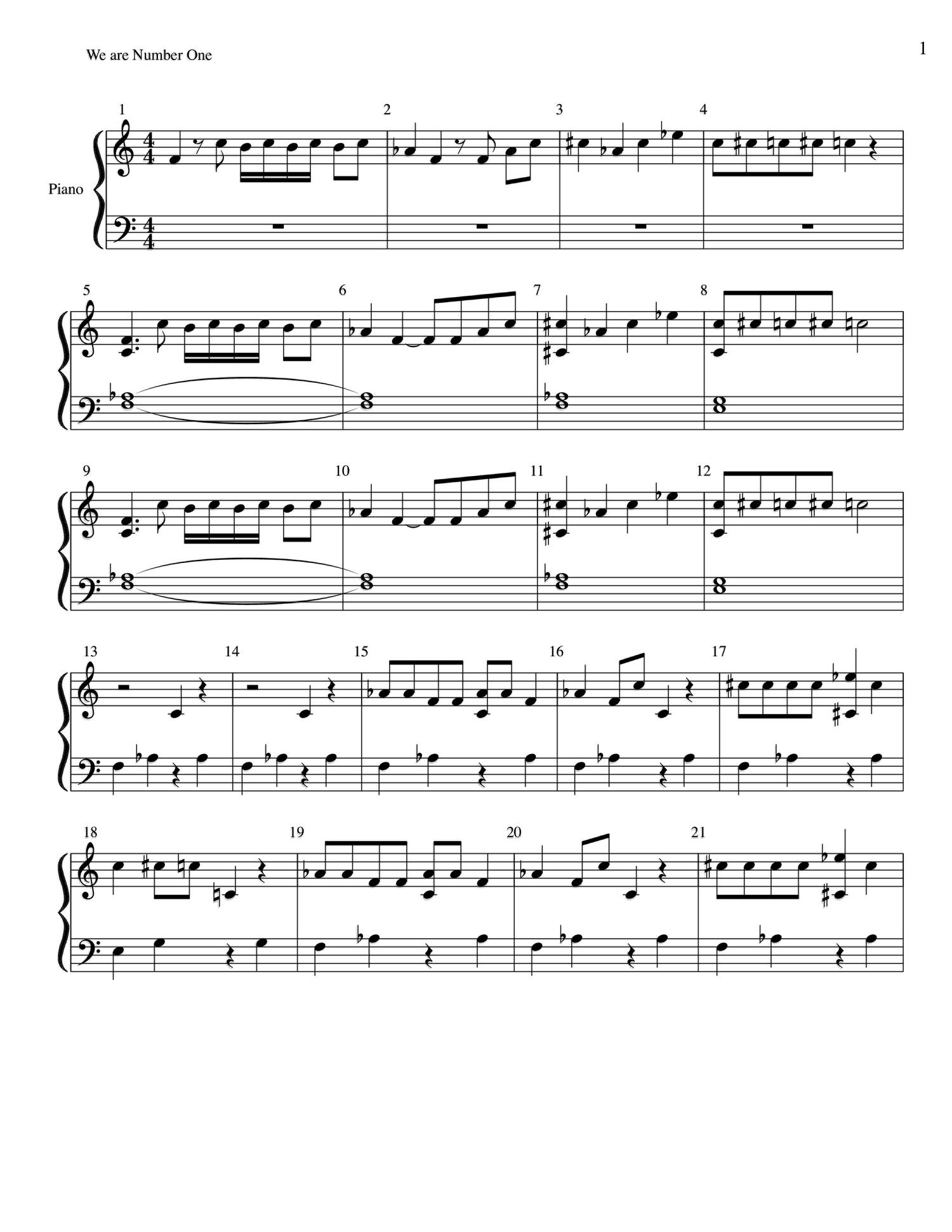 we are number one sheet music.pdf - DocDroid