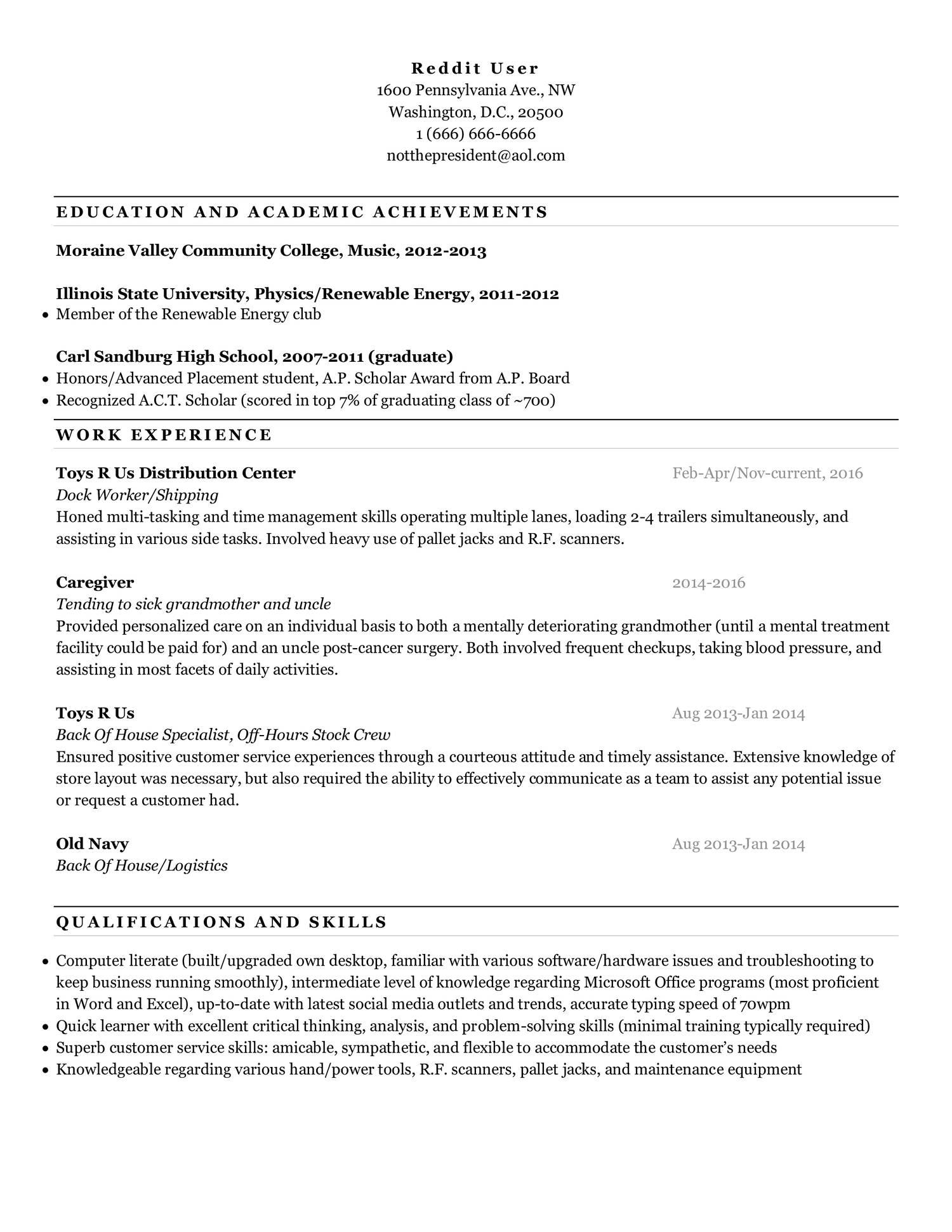 Resume Template Reddit Pdf Docdroid
