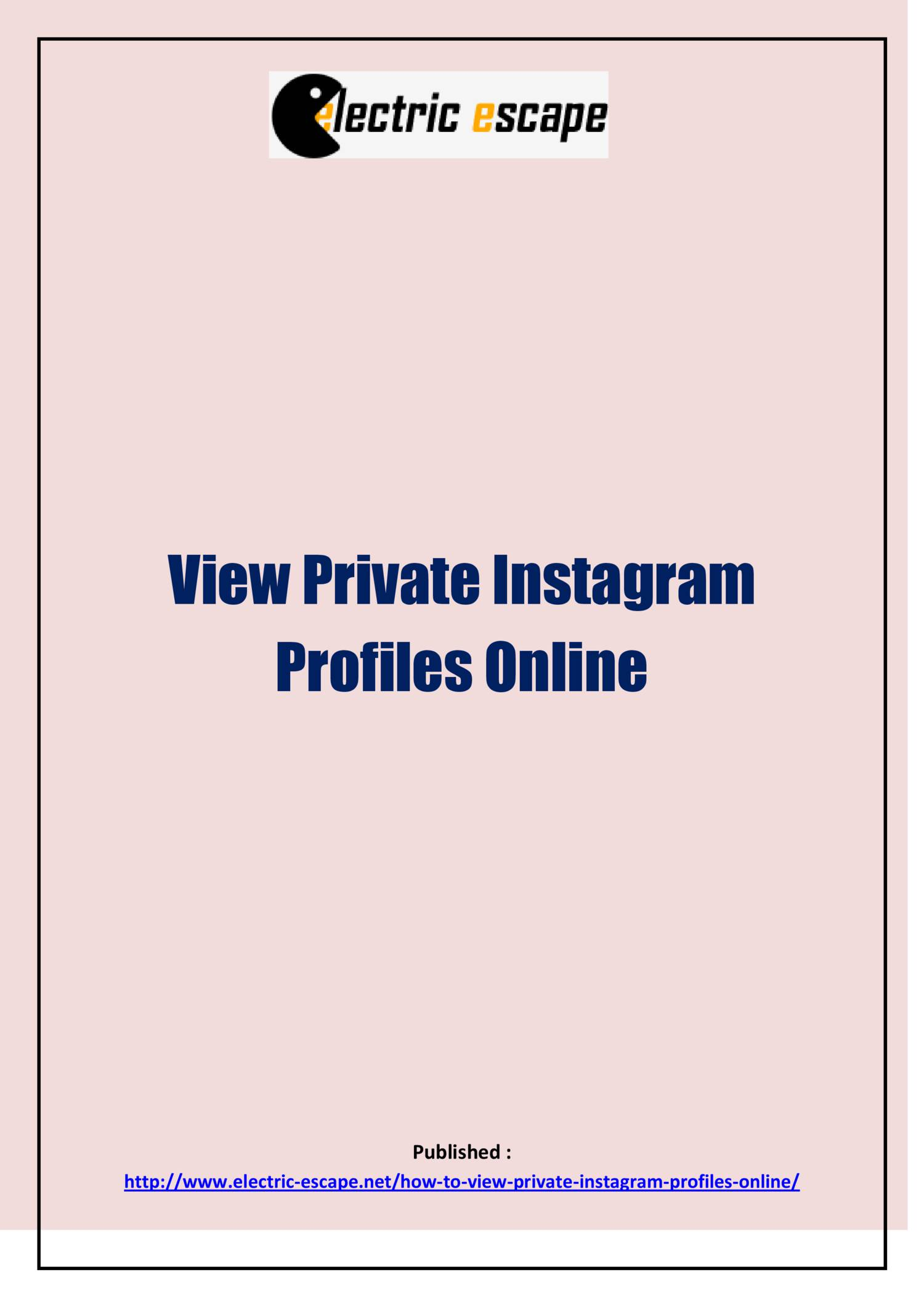 View Private Instagram Profiles Online pdf | DocDroid