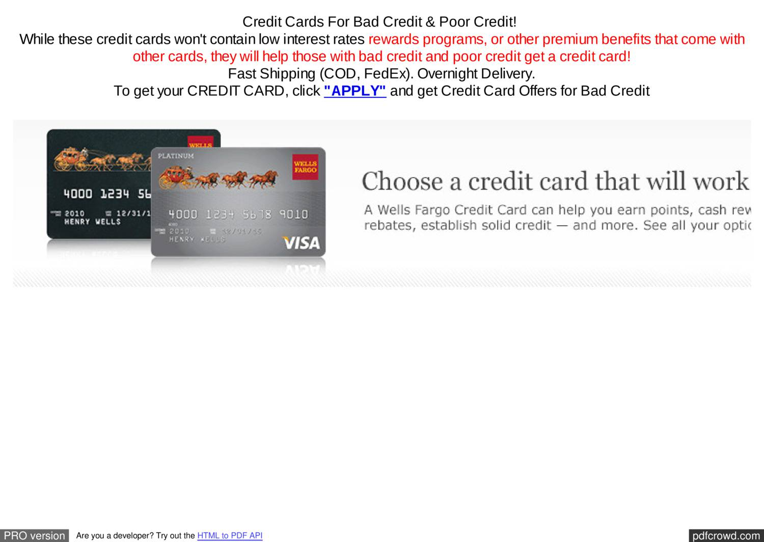 Credit Card Offers For Bad Credit >> Credit Card Offers Pdf Docdroid