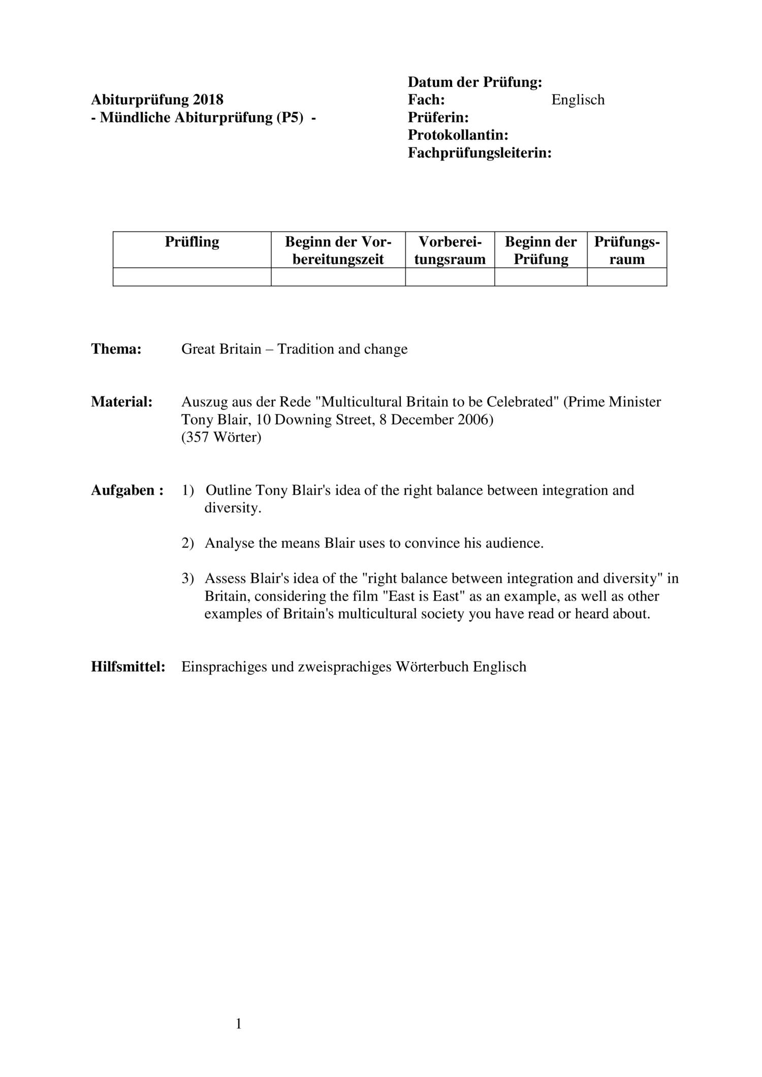 mündliche abiturprüfung englisch