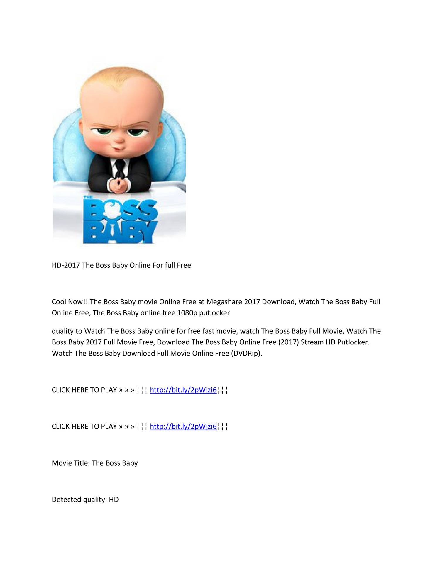 boss baby full movie hd online free