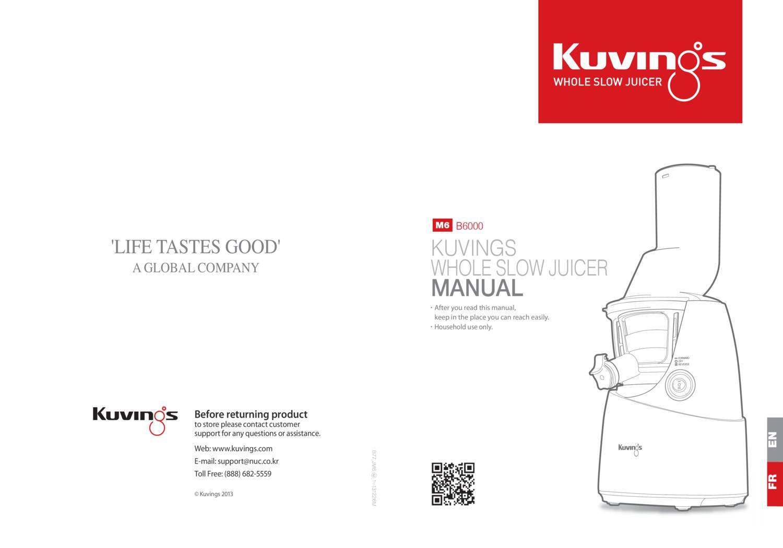 kuvings-b6000-manual.pdf | DocDroid
