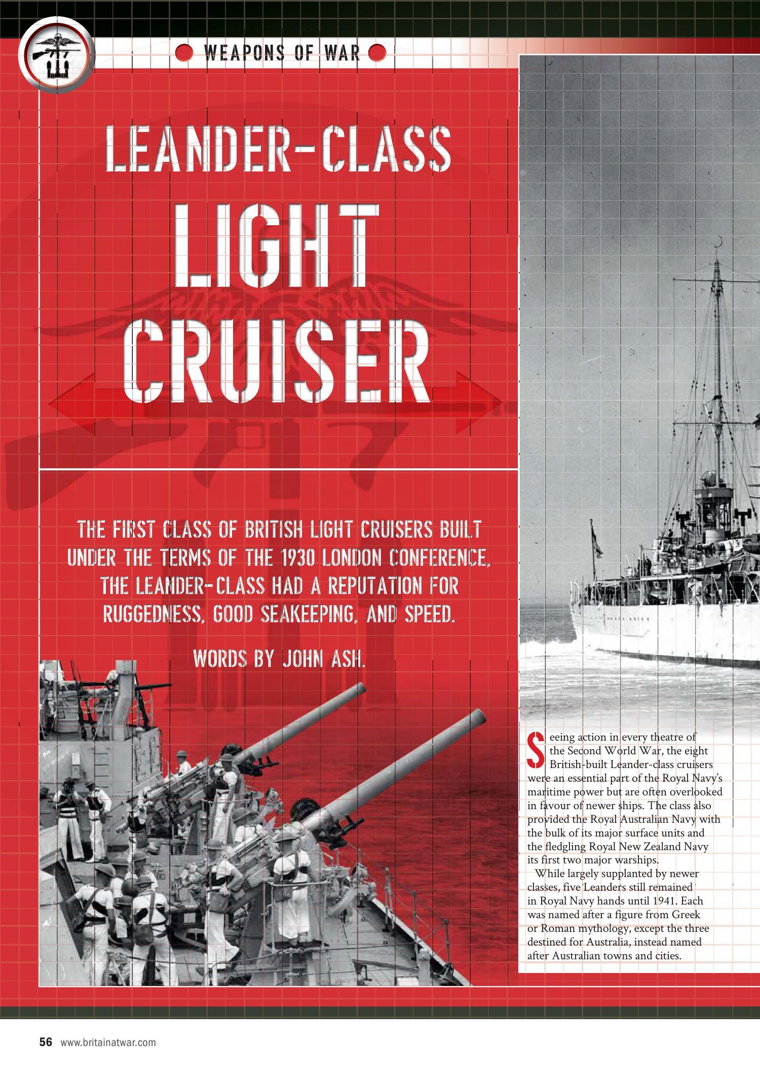 Leander Class Light Cruiser Britain At War 2019