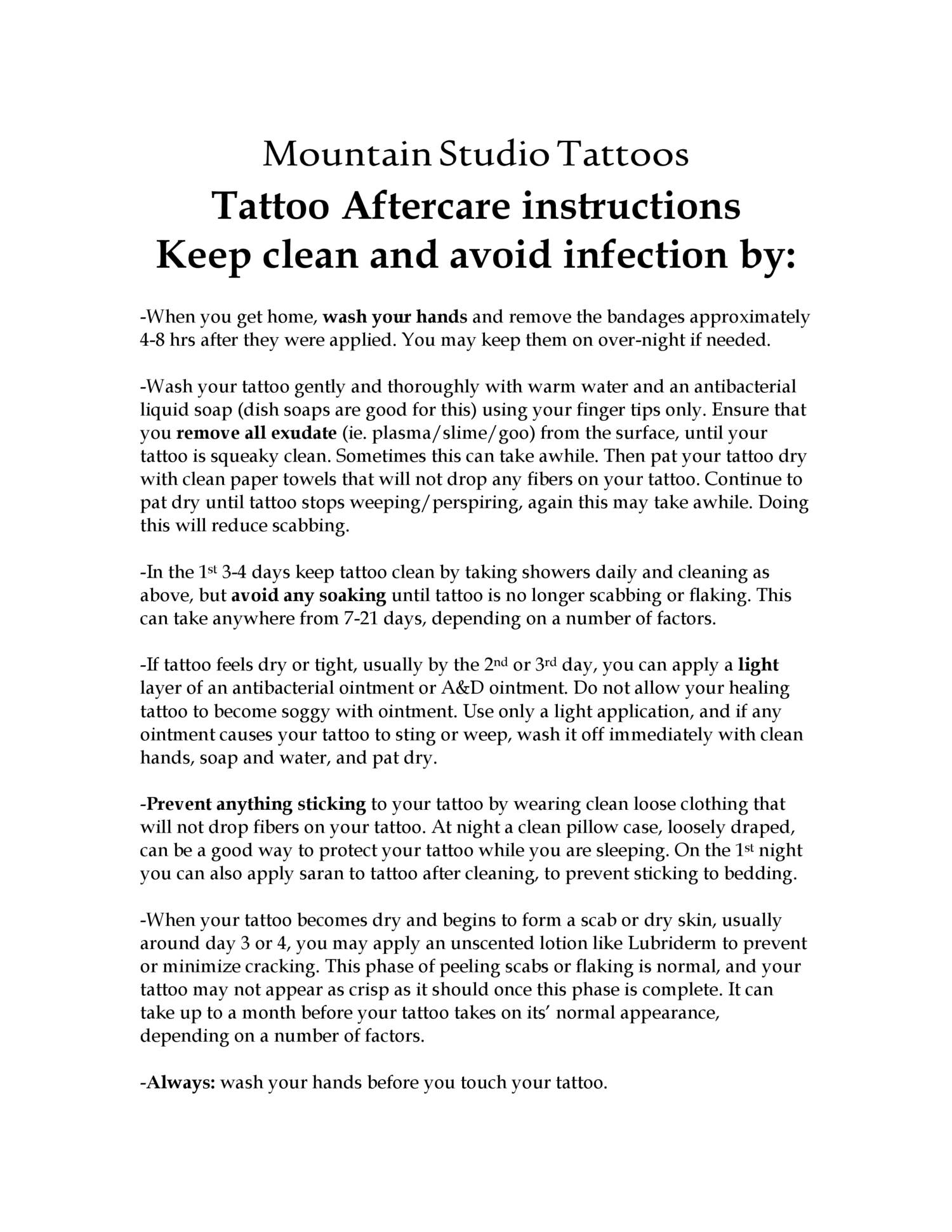 Mountain Studio Tattoos, aftercare.doc   DocDroid