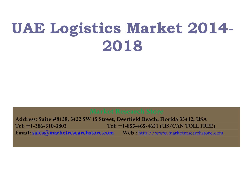 UAE Logistics Market 2014-2018 pdf | DocDroid