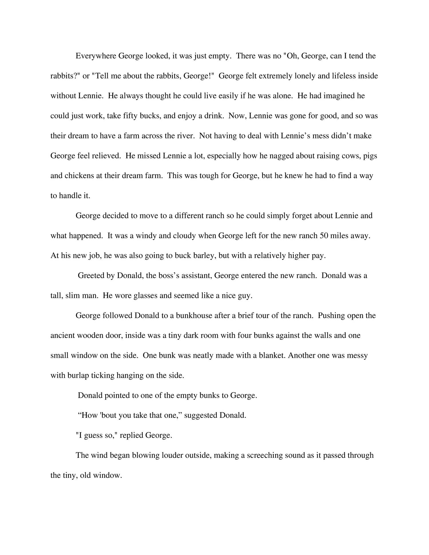 Of Mice And Men Essay On Dreams  Barcafontanacountryinncom Of Mice And Men Sequel Writing Essay Pdf Docdroid
