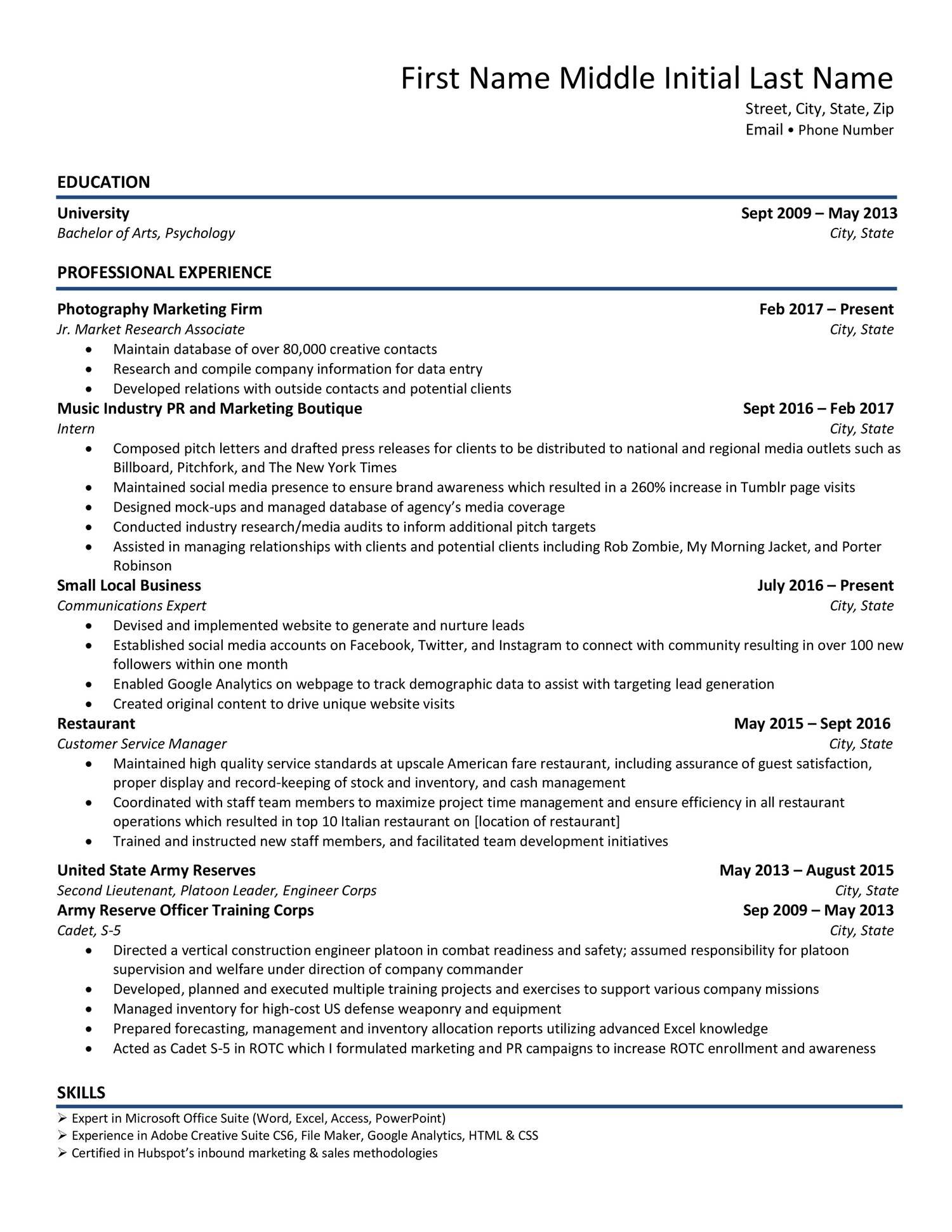Resume Sample Pdf Docdroid