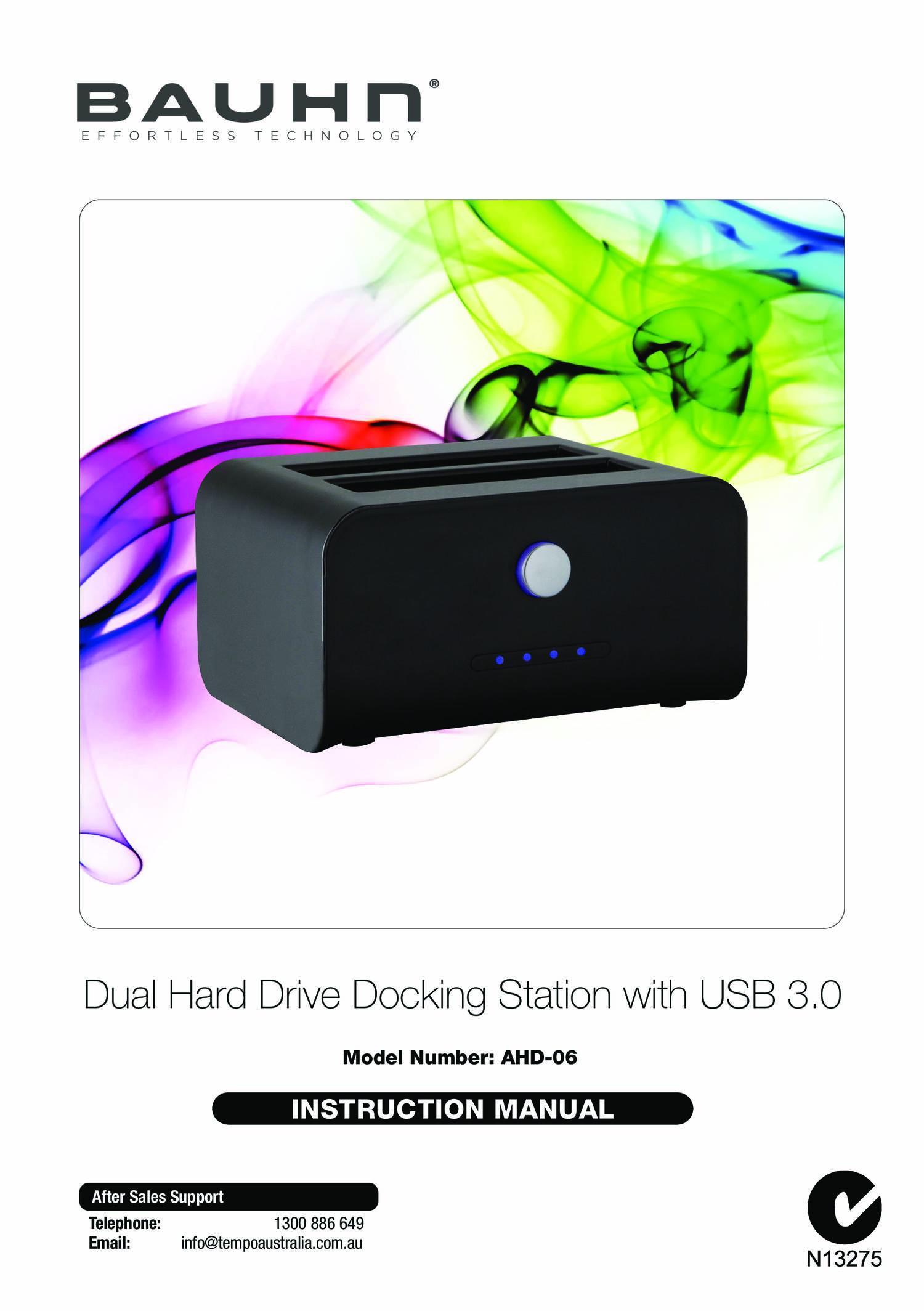 AHD-06 BAUHN Dual Hard Drive Docking Station IM.pdf   DocDroid