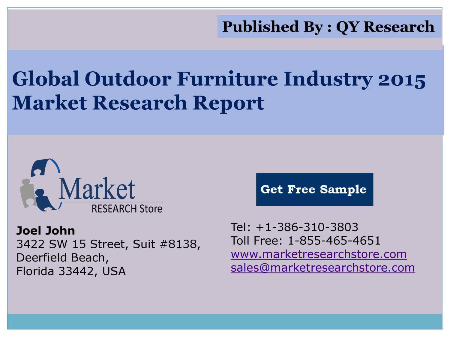 Global Outdoor Furniture Industry 2015 Market Outlook Production ...