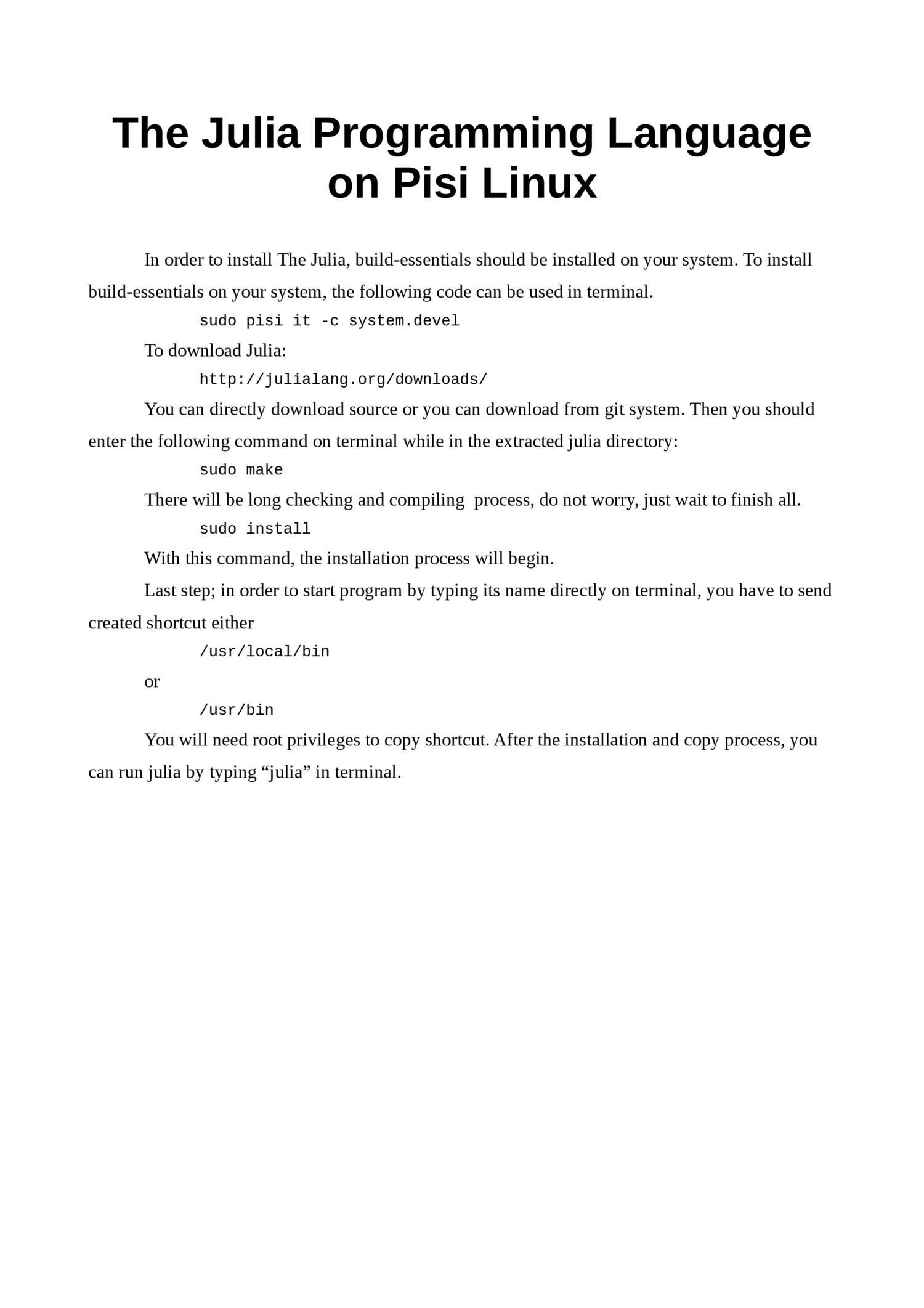 The julia programming language on pisi linux pdf | DocDroid