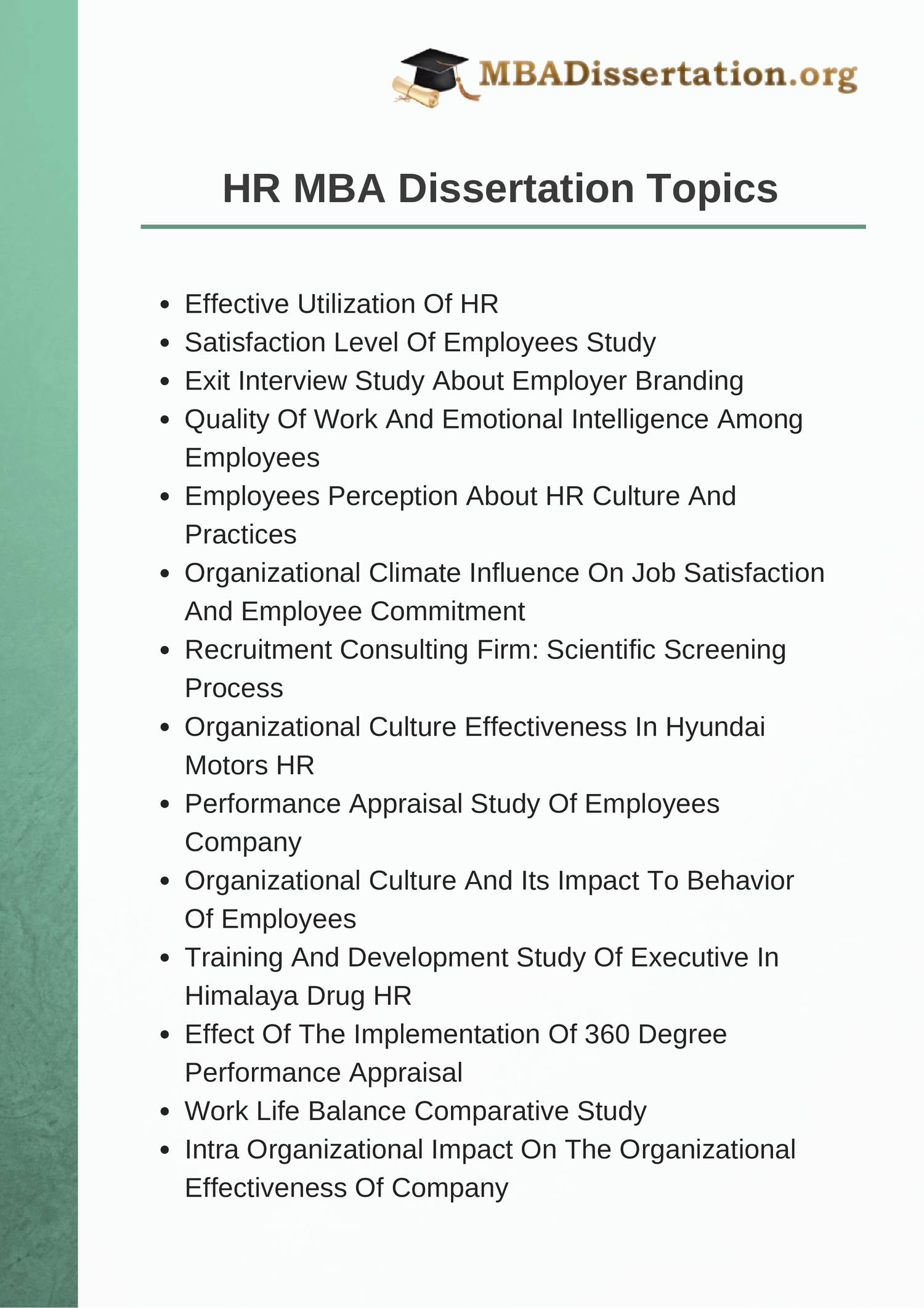 mba dissertation hrm Business & management dissertation topics ~ writing a business dissertation, here we have collected hundreds of topics need custom topic, get 3 topics free.