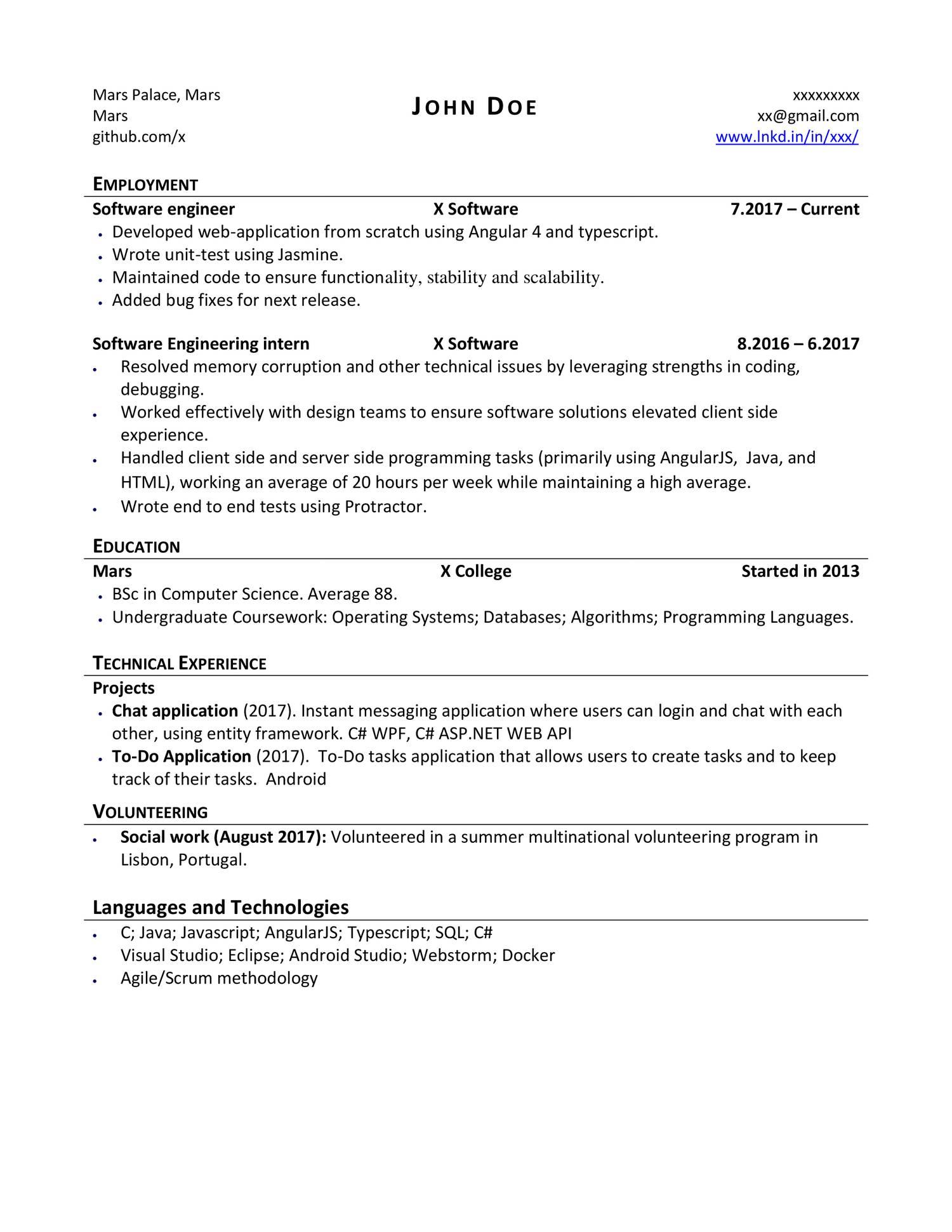 CV- John Doe - New pdf | DocDroid
