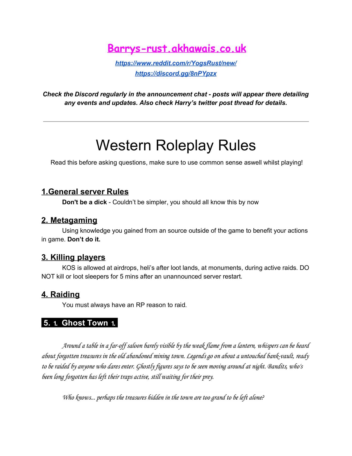 WesternThemedRPRules(1) pdf | DocDroid