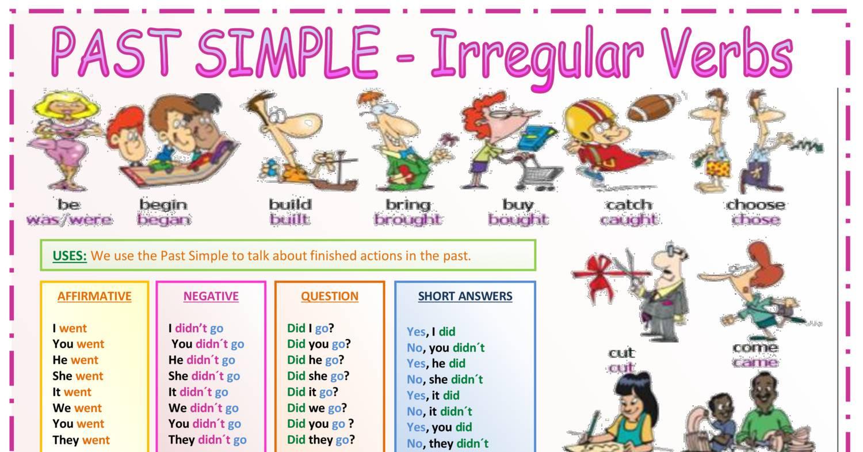 past simple verbs list pdf