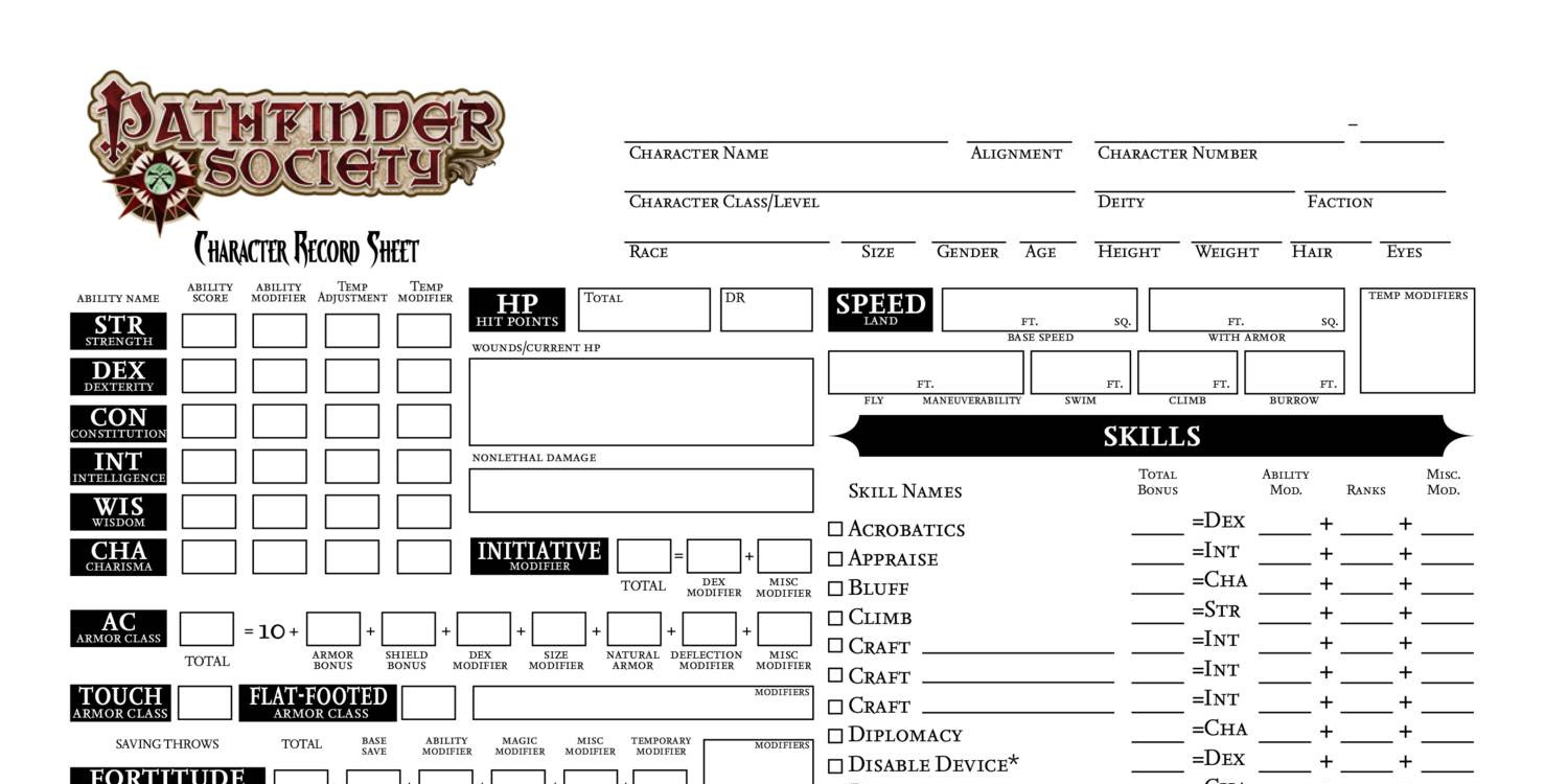 picture regarding Pathfinder Character Sheets Printable titled Temperament Sheet.pdf DocDroid