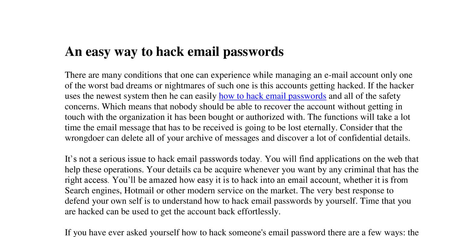 An easy way to hack email passwordspdf docdroid ccuart Gallery