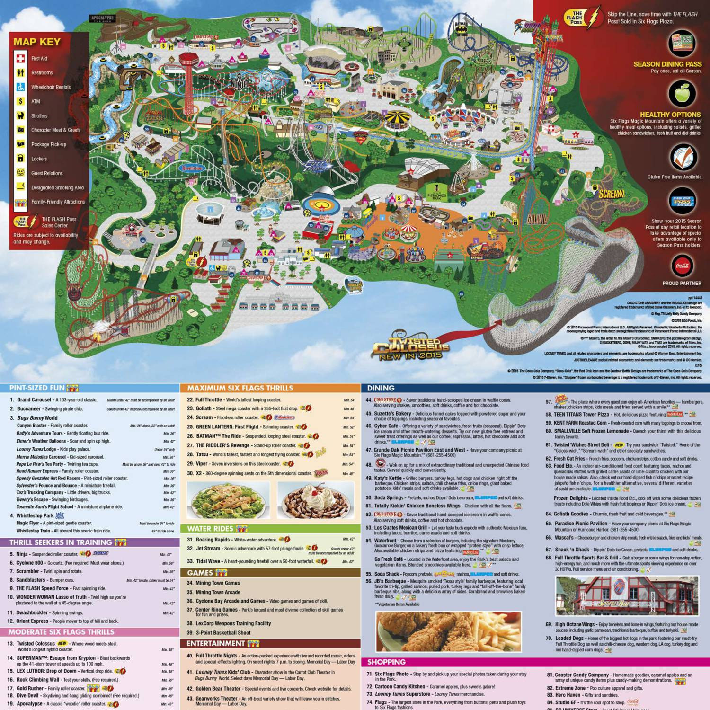 Six flags magic mountain park map menu 2015pdf docdroid gumiabroncs Images