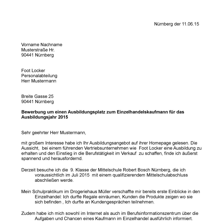 Bewerbungsschreiben Fur Einzelhandel Bewerbungsforum 11