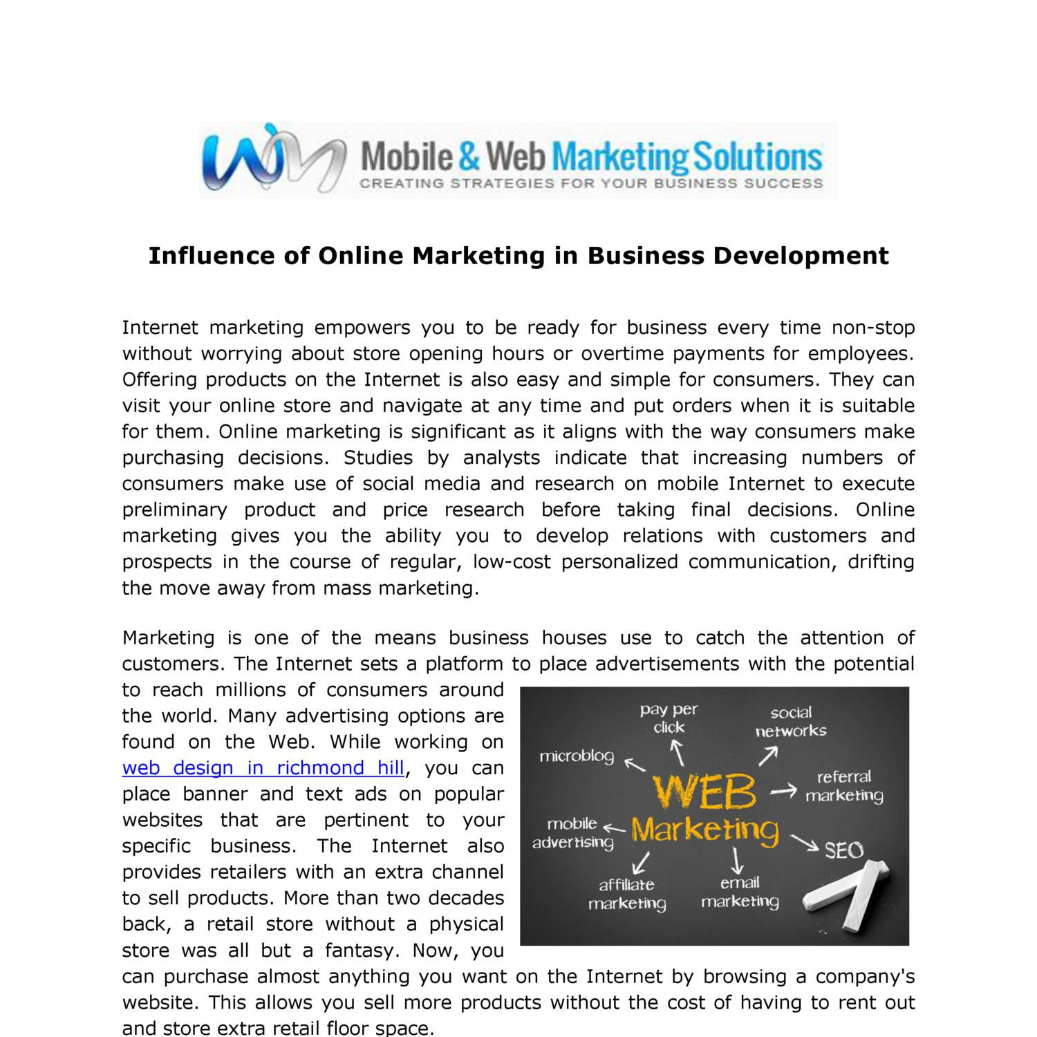 Marketing report pdf