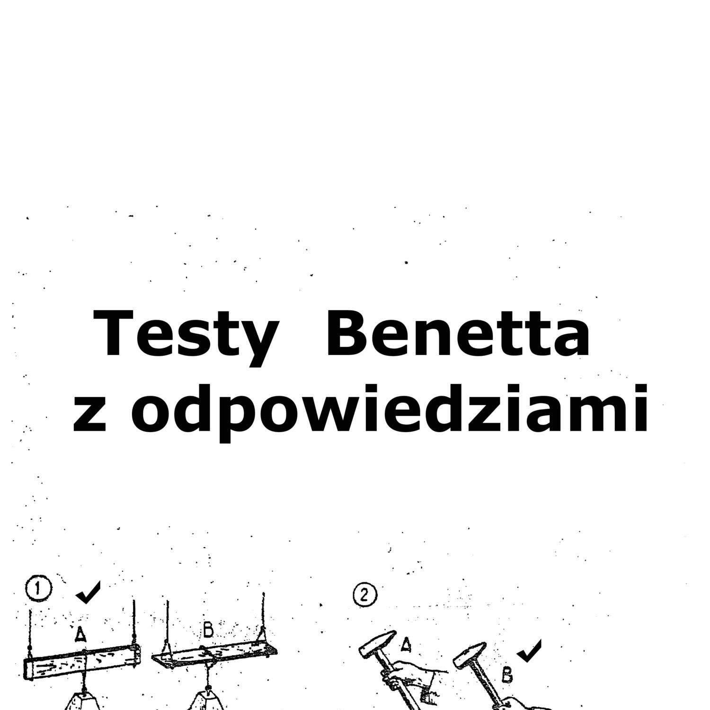 Cudowna Testy Benetta z odpowiedziami w pdf free download.pdf | DocDroid BY35
