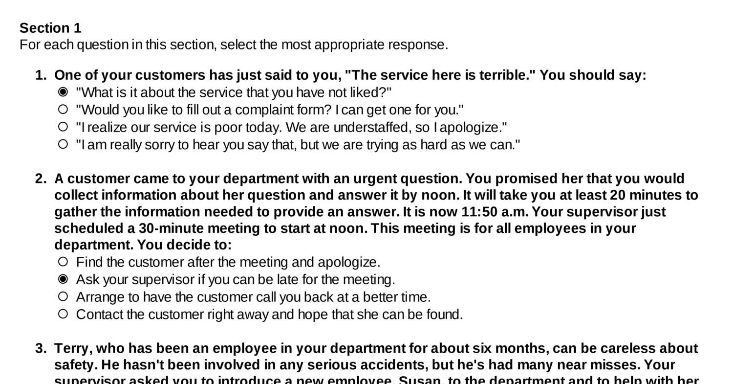 outlining reasons why the customers concern is not right