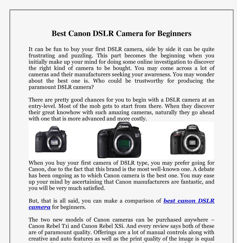 Best Canon DSLR Camera for Beginners.pdf | DocDroid