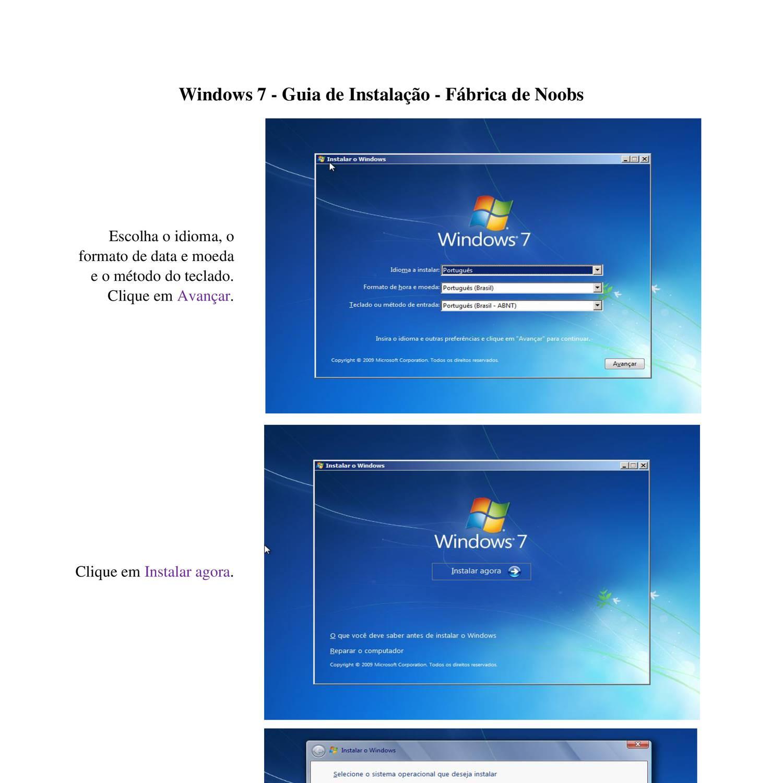 Guia de Instalação - Windows 7.pdf | DocDroid