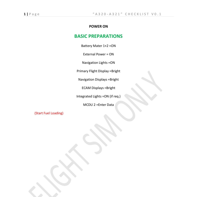 A320 Aerosoft Checklists docx | DocDroid