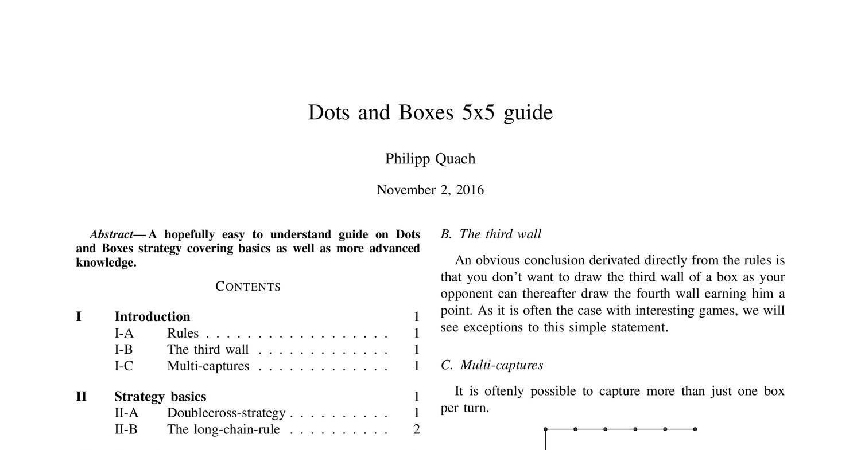 Dots Boxes 5x5 Pdf Docdroid