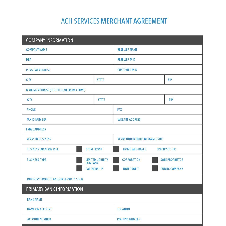 Ach Merchant Agreementpdf Docdroid