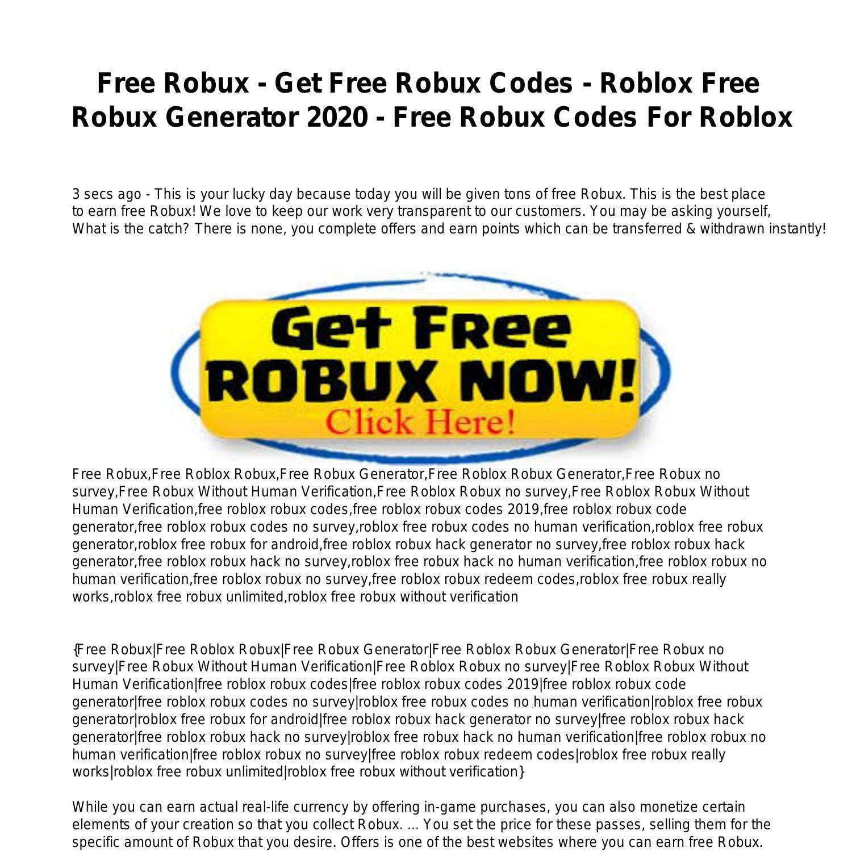Free Robux Get Free Robux Codes Roblox Free Robux Generator
