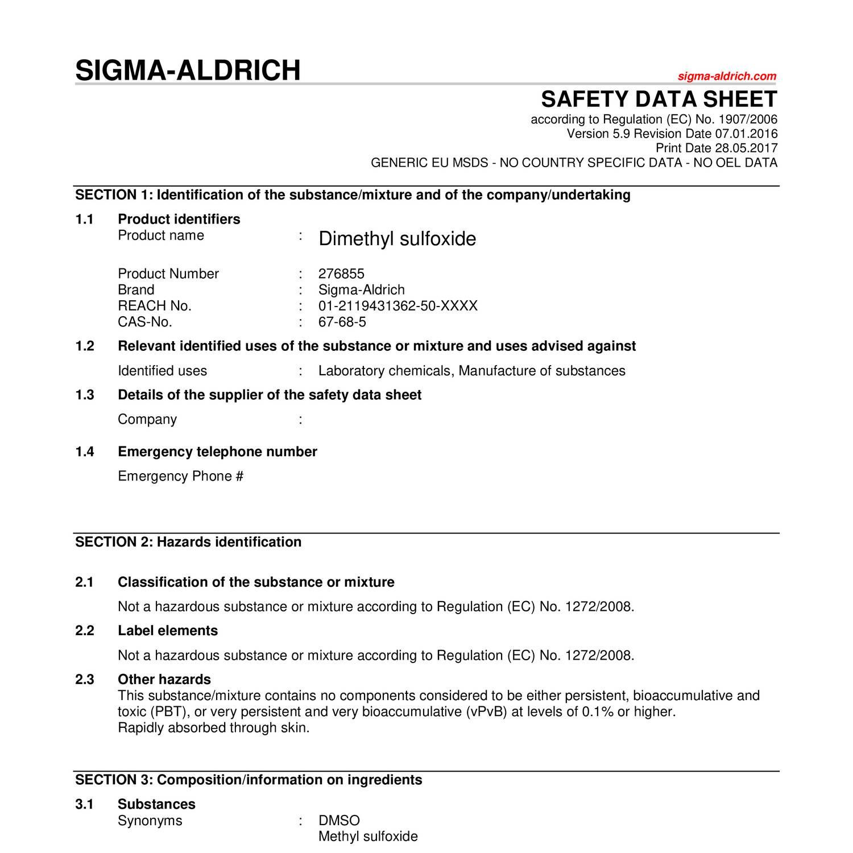 Dimethyl Sulfoxide Sa Pdf Docdroid