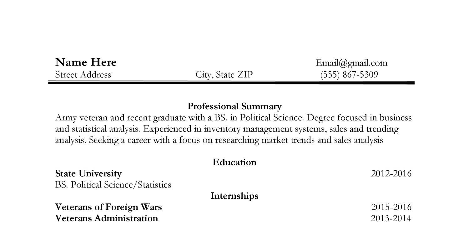 blank resumedocx docdroid - Resume Political Science Degree