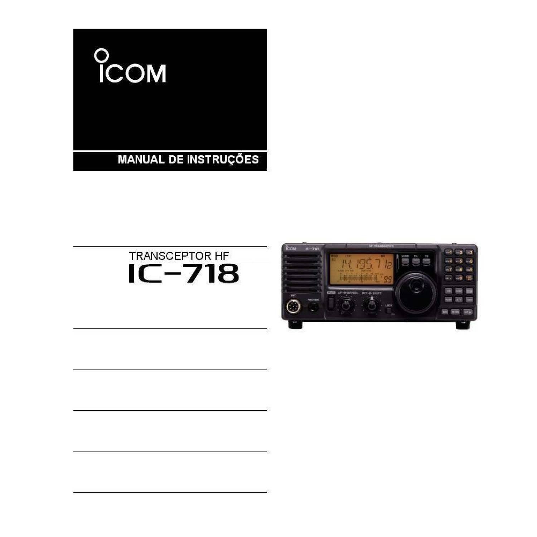 MANUAL IC-718 Manual Portugus PR7JRC.pdf | DocDroid