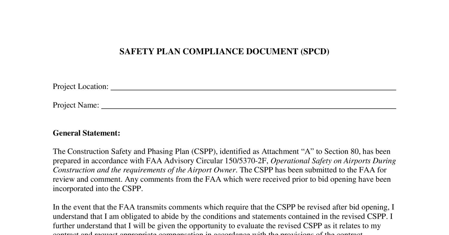 Safety Plan Compliance Document (SPCD) pdf | DocDroid