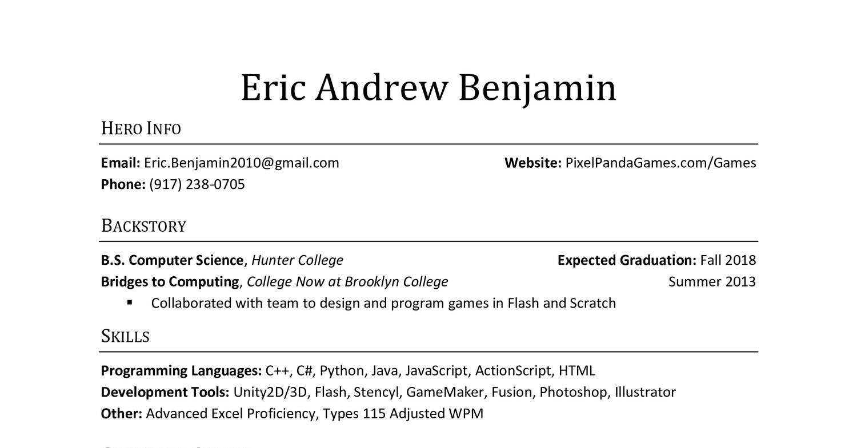 Eric Benjamin Resume Blizzardcx Docdroid