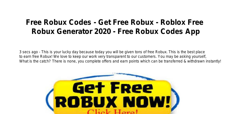 Free Robux Codes Get Free Robux Roblox Free Robux Generator