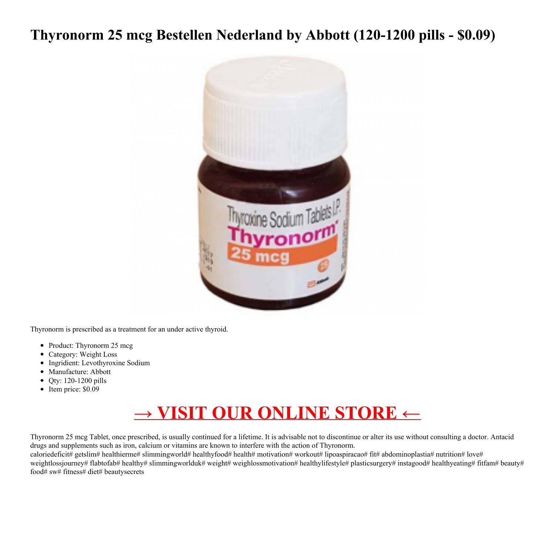 Thyronorm 25 Mcg Bestellen Nederland Pdf Docdroid