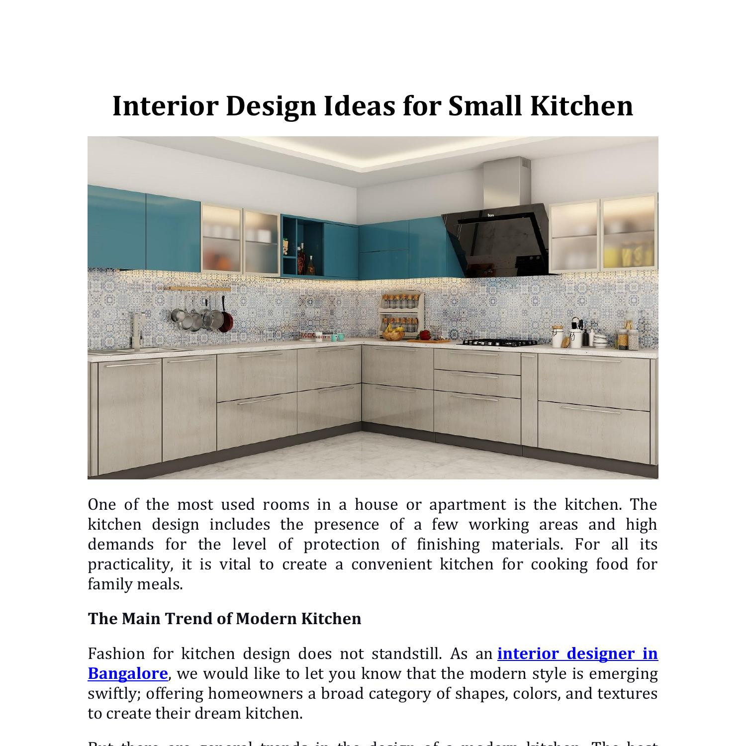 Interior Design Ideas For Small Kitchen Pdf Docdroid