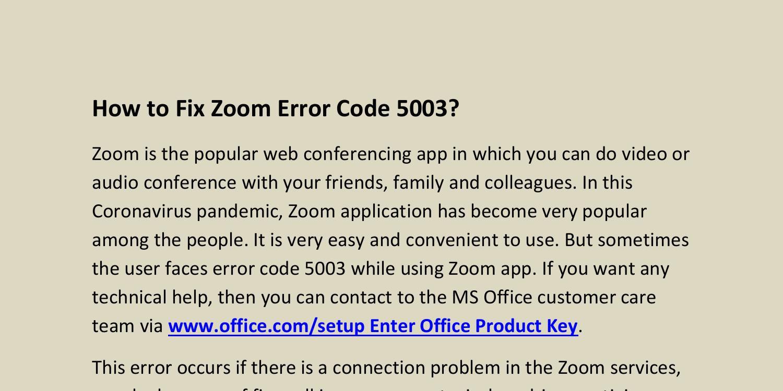 エラー 5003 Zoom コード