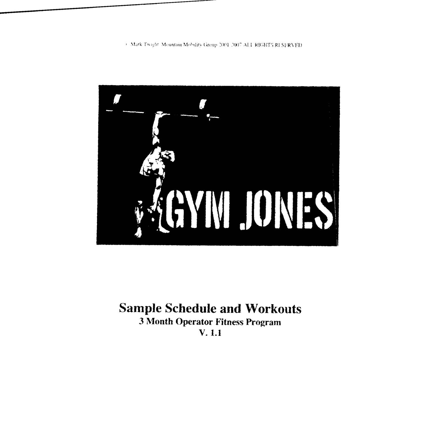 288105348 3 Mo Sample With Workouts Gym Jones Pdf Docdroid