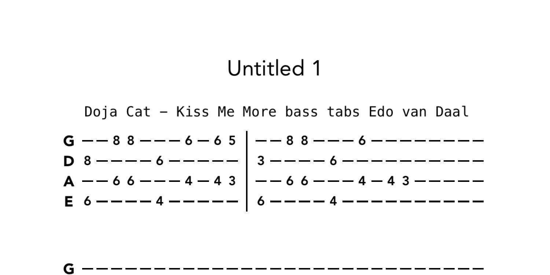 Doja Cat   Kiss Me More bass tabs.pdf   DocDroid